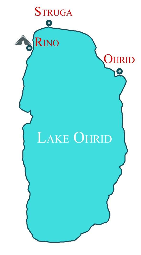 Lake Ohrid Map