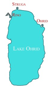 Lake Ohrid Map