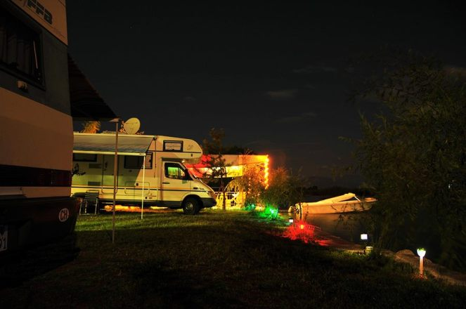 Camping Rino at Night